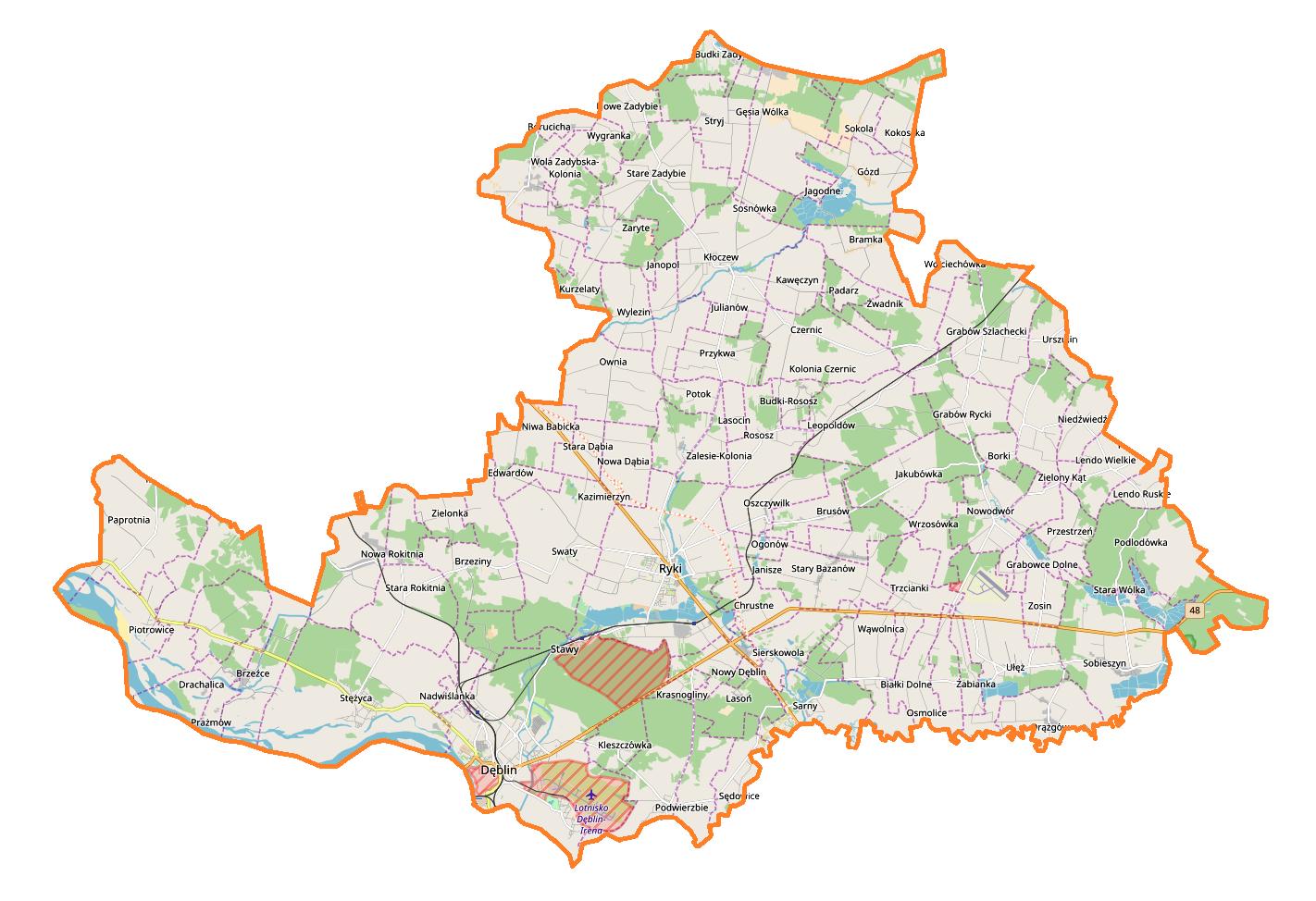 Tereny inwestycyjne powiatu Ryckiego
